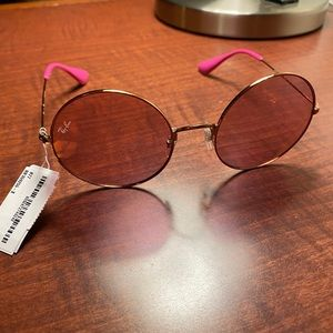 Ray bans specs pink tinted glasses
